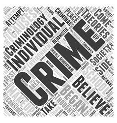 What is Criminology Word Cloud Concept vector
