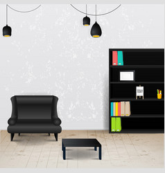 Workplace room of modern office stylish and vector