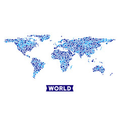 World map connections composition vector