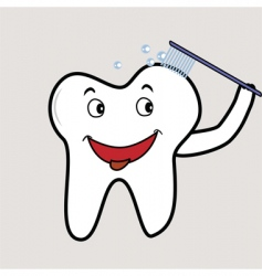 cheeky tooth vector image