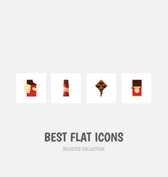 Flat icon cacao set of shaped box sweet vector