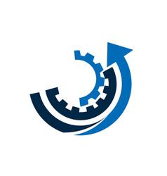 gears with arrow vector image