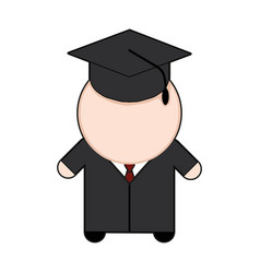 profession character student vector image