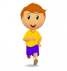 running man in yellow t-shirt vector image vector image