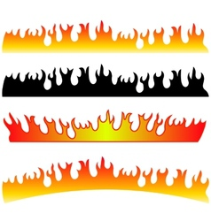 Silhouettes of Fire vector image vector image