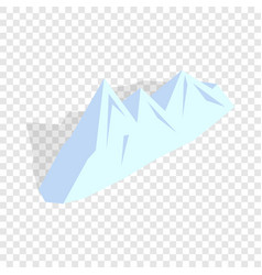 snowy mountains isometric icon vector image