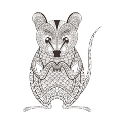 Zentangle brown Possum totem for adult anti vector image vector image
