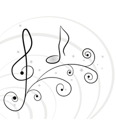 Music background A illuustration vector image