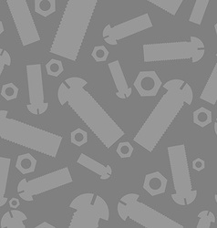 Nuts and bolts silhouettes seamless pattern vector image