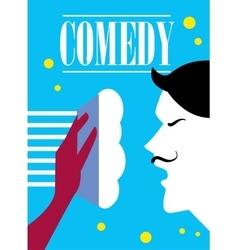 Comedy cinema poster vector