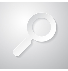 Paper Abstract Magnifying Glass vector image