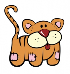 plush kitty vector image vector image