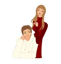 Portrait of couple vector image vector image