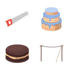 Building cooking and other web icon in cartoon vector
