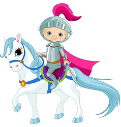 Knight on horse vector image