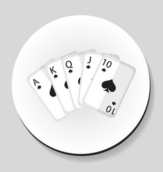 playing cards pocker royal flash combination vector image vector image
