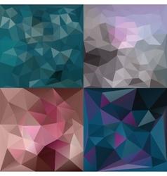 Polygonal Geometric backgrounds vector image