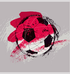Soccer typographical vintage grunge style poster vector