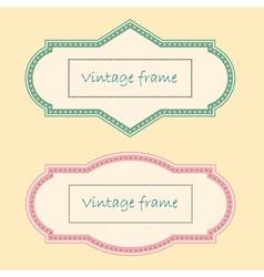 Two Vintage Frames vector image vector image