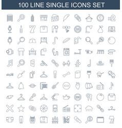 100 single icons vector