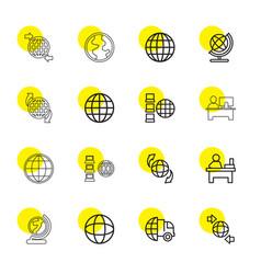 16 around icons vector image