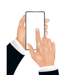 A human hand with smartphone vector