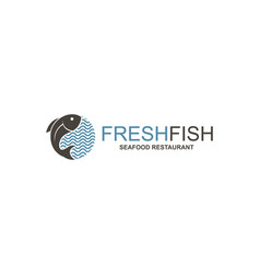abstract fish icon vector image