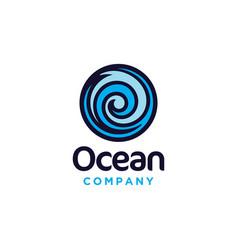 abstract ocean water wave logo design vector image