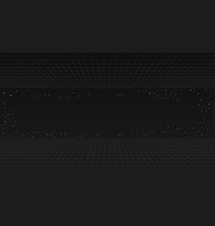 Black future retro line background style vector
