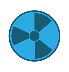 blue nuclear symbol vector image