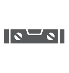 Bubble level tool glyph icon tool and measure vector