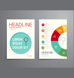 Business brochure flyer magazine cover design vector