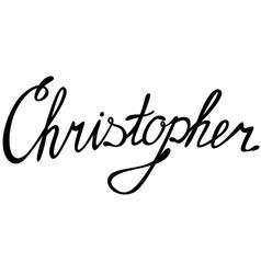 Christopher name lettering vector