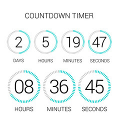Circle countdown clock counter timer on white vector