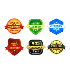 Colorful Clearance Discount Badges vector