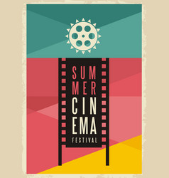 conceptual artistic poster design for summer cinem vector image