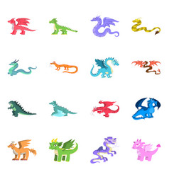 design creature and animal sign set of vector image