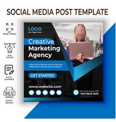 Digital marketing social media banner template vector