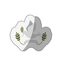 Dove cute ornament vector image