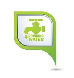 Drinking water GREEN pointer vector