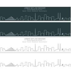 Dublin single line skyline banner vector