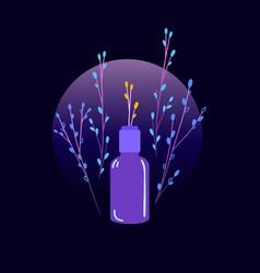 Eco natural cosmetic design gradient vector