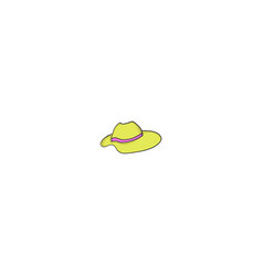 female hat icon vector image