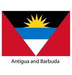 Flag of the country antigua and barbuda vector image