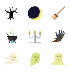 Flat icon celebrate set of terrible halloween vector