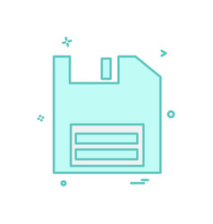 floppy icon design vector image