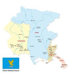 friuli venezia giulia administrative map vector image