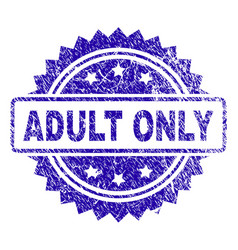Grunge adult only stamp seal vector