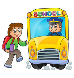Image with school bus theme 5 vector