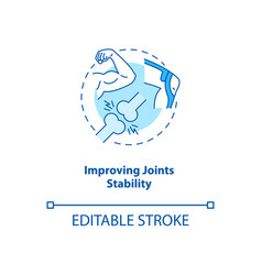 Improve joint stability turquoise concept icon vector